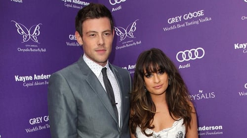 Corey Monteith and Lea Michele
