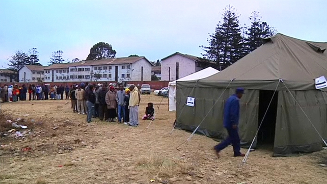 Voters queued from the early morning