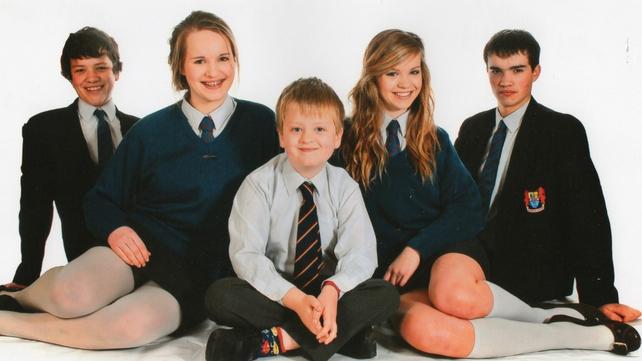 Aaron (C) was the youngest of five children (L-R) Jack, Helen, Hazel and Matthew