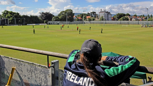 Ireland women's cricketers will he hoping for clear skies tomorrow