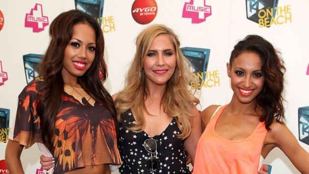 The most recent version of the Sugababe - Jade Ewen, Heidi Range and Amelle Berrabah