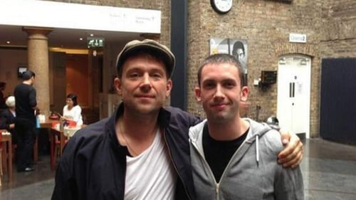 Damon and mate in Dublin's IFI last Summer