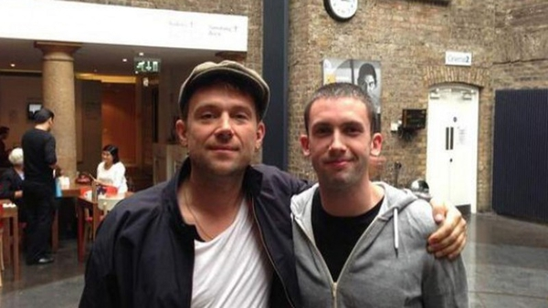Yup! It's Damon with his new Irish mate in Dublin's IFI last summer