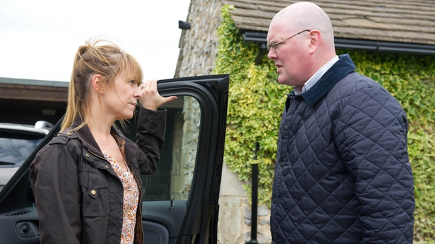 Paddy discovers that Rhona has been lying to him