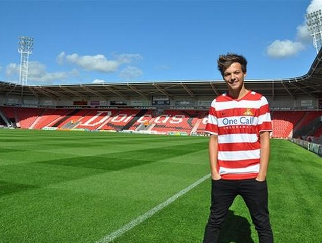 Louis Tomlinson is a lifelong fan of his hometown club, Doncaster Rovers