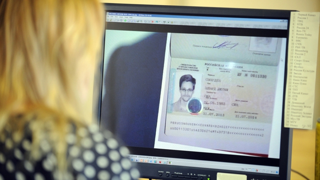 Edward Snowden's new document is similar to a Russian passport