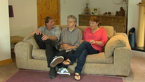 Joseph Dooley (C) was one of two thalidomide survivors whose compensation offer was rejected by a High Court judge yesterday