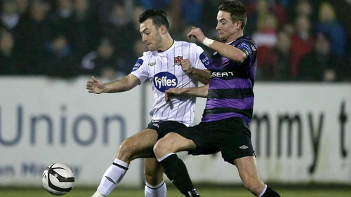 Richie Towell showed his class from the opening day encounter with Shamrock Rovers at Oriel Park