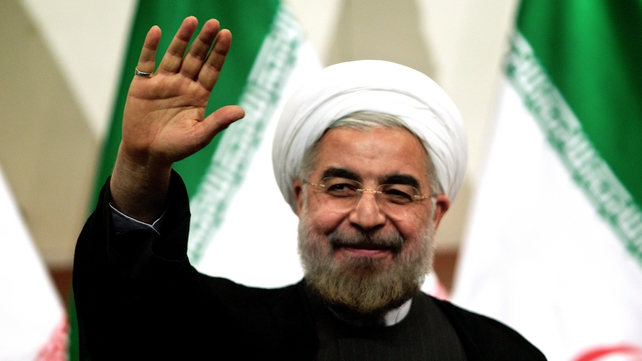 Incoming Iranian president Hassan Rouhani has urged Iranians to support the rights of Palestinians