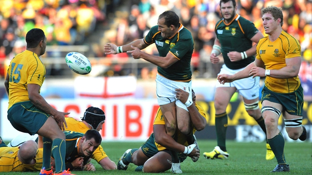 Fourie du Preez during the 2011 World Cup quarter-final against Australia