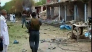 Aftermath of suicide bomb attack on Indian consulate in eastern Afghanistan
