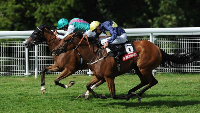 Winsili breaks away to win the Markel Insurance Nassau Stakes