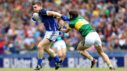 Tomás Corr of Cavan in action against Kerry's Killian Young