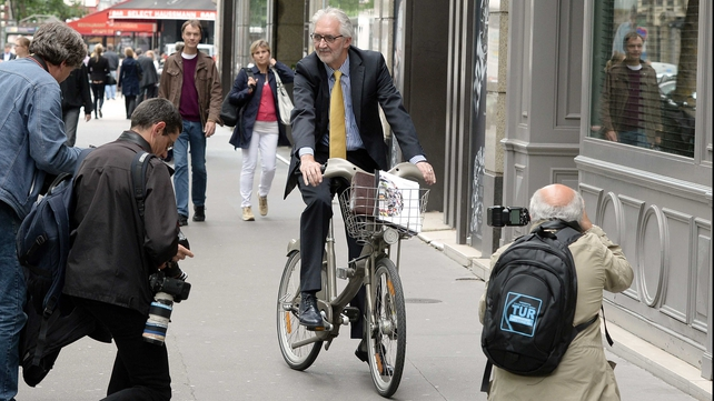 Brian Cookson in Paris last month
