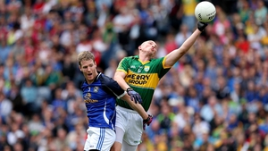 Rory Dunne does just enough to prevent Kieran Donaghy gaining posession as Cavan took on Kerry