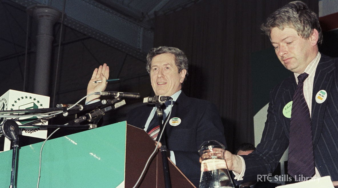 The late Garret FitzGerald at the Fine Gael 1979 Ard Fheis along with FG General Secretary Peter Prendergast