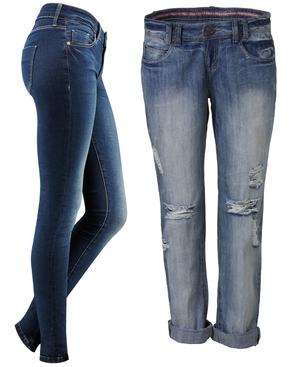 Denim Co Tech Stretch (L) and Ripped Boyfriend Jeans €15 (R)