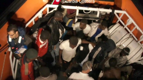 Italy rescued 22 migrants from a boat which sank off Libya last month