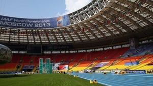 The World Athletics Championships take place at the Luzhniki Stadium in Moscow