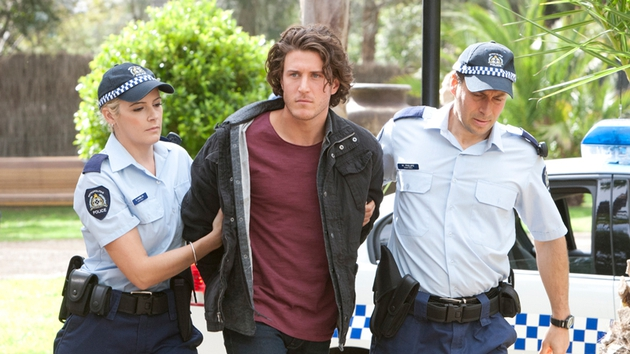 Robbo is only back and he's already in handcuffs