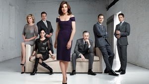Julianna Margulies (centre) leads an all-star cast in The Good Wife