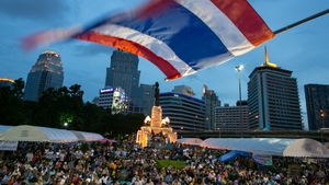 Thai protesters gather at an anti-government rally in Bangkok