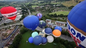 Hot air balloons fly over Bristol during the four-day International Balloon Fiesta