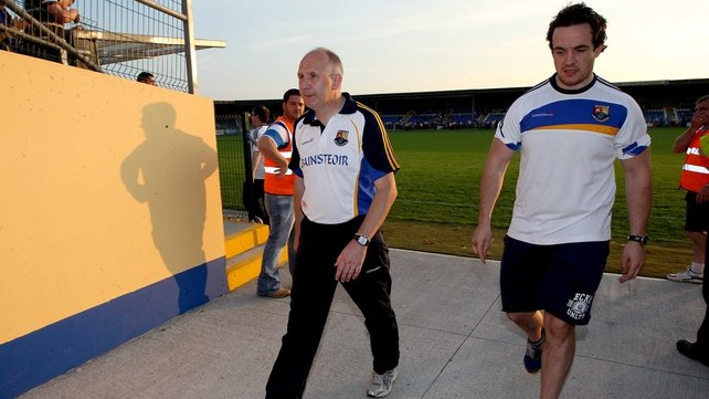 Glen Ryan leaves the Pearse Park pitch after Longford's defeat to Wexford on 13 July