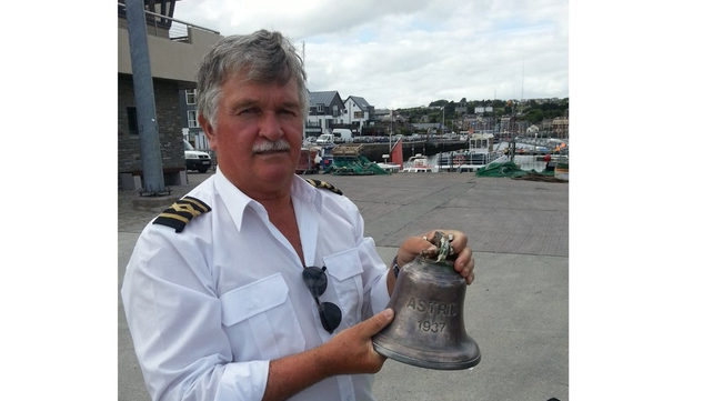 Captain Phil Devitt said the Astrid's bell was also found by divers