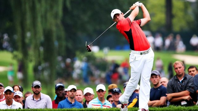 Rory McIlroy birdied four of the last seven holes in his second round
