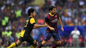 Cesc Fabregas is now a doubt for Barcelona's league opener