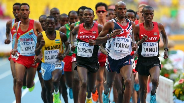 Mo Farah claimed his fifth major championship title in Moscow on Friday