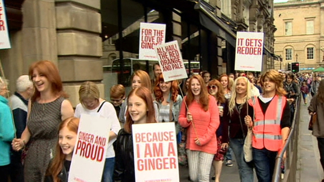 March held in Edinburgh to demonstrate against gingerism