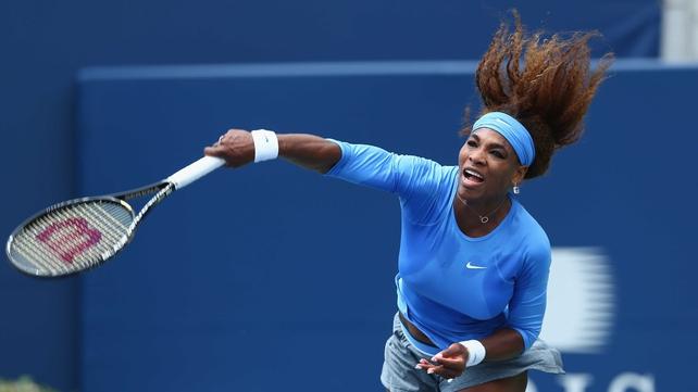 Serena Williams dismantled Sorana Cirstea's challenge
