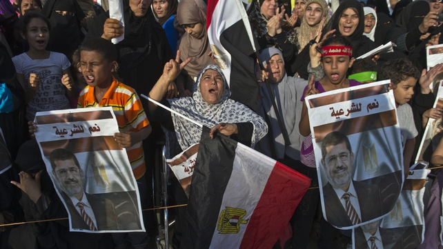 Supporters of ousted President Mohammed Mursi have gathered in camps around Cairo