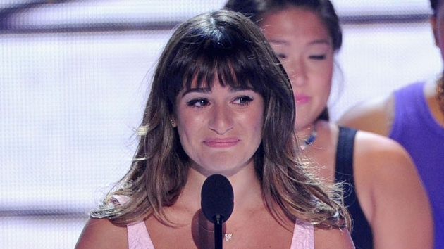 Lea Michele made a poignant tribute to Cory Monteith