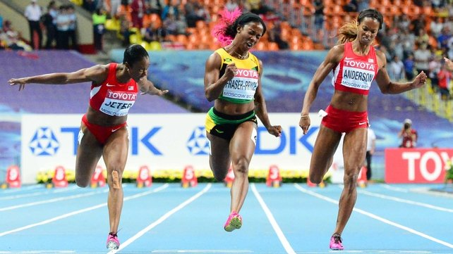 Shelly-Ann Fraser-Pryce was unstoppable en route to winning world 100m gold