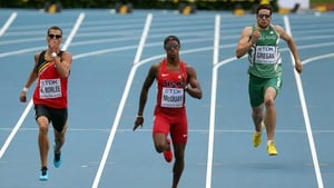 Brian Gregan (right) has not qualified for the world 400m final