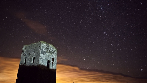 The Perseids over the Old Head of Kinsale (Photo by Rory Coomey)
