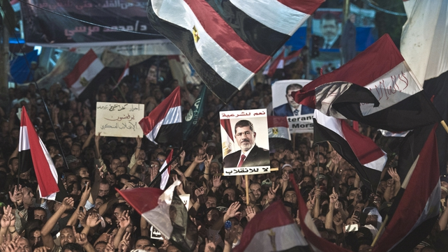 Supporters of ousted president Mohammed Mursi have demanded his reinstatement