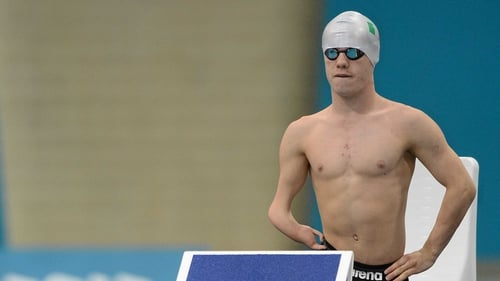 James Scully finished eighth in his 50m backstroke final