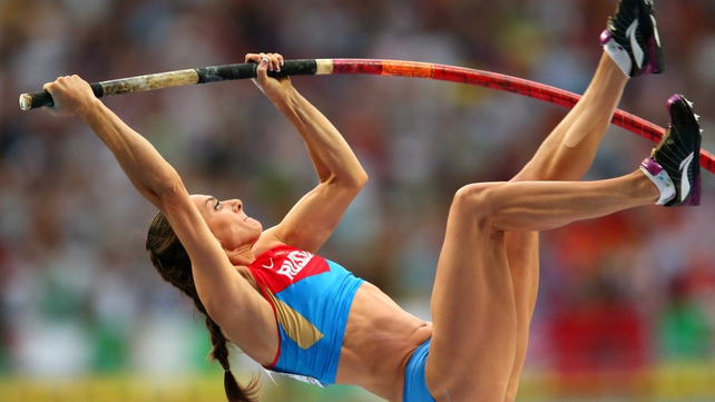 Yelena Isinbayeva  has secured a third world title