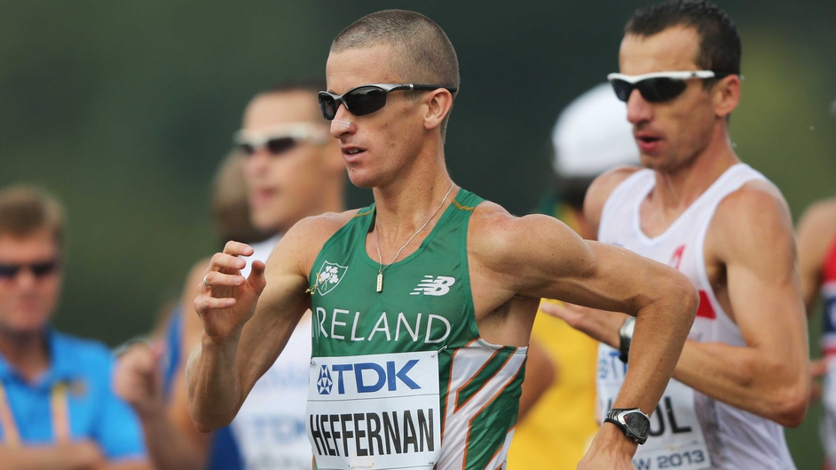 Rob Heffernan in action mid-race