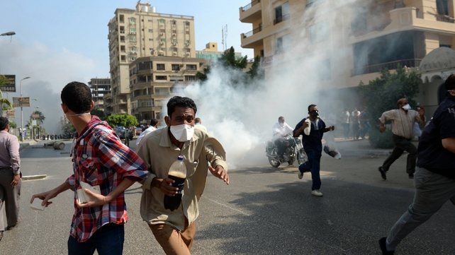 Police moved in early this morning to clear protest camps in Cairo
