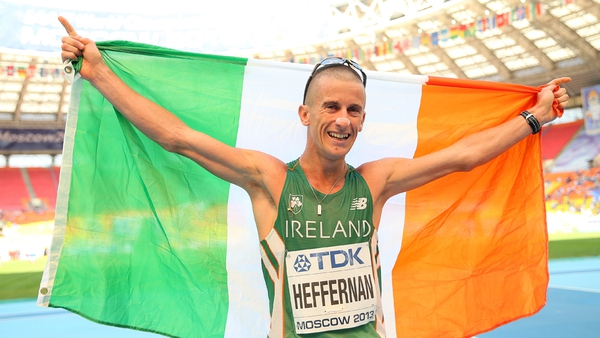 Rob Heffernans's gold is only Ireland's sixth ever medal at a Word Athletics Championships