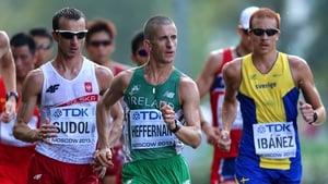 Rob Heffernan in action mid-race