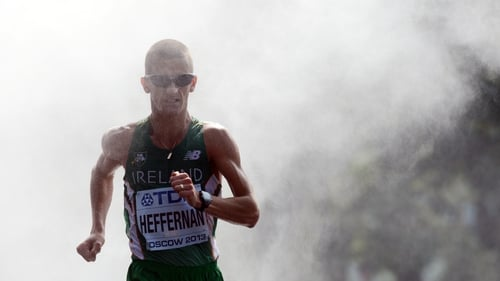 Rob Heffernan in action during the 50k walk
