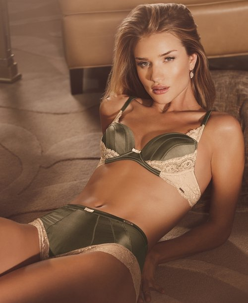 Rosie Huntington-Whiteley modelling her Marks and Spencer collection