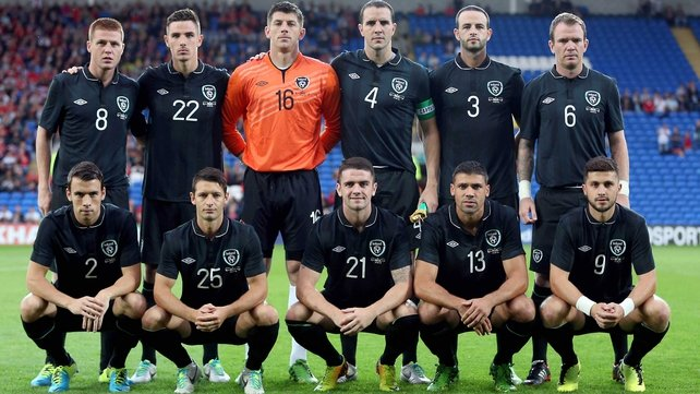 Ireland team v Wales