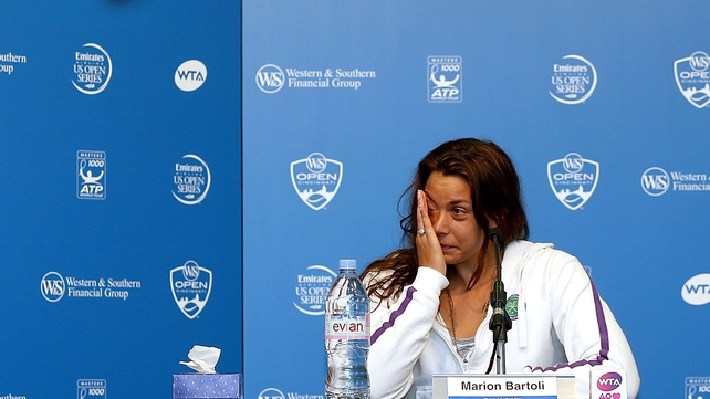 Marion Bartoli of France announced her retirement from professional tennis at a news conference at the Western & Southern Open